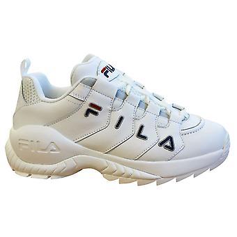 Fila العد التنازلي انخفاض الرجال المدربين الجلود البيضاء الدانتيل حتى الأحذية 1010709 1FG
