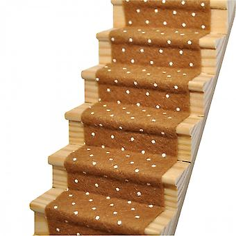 Dolls House Camel Spotted Stair Carpet Runner Autoadesivo 1:12 Pavimentazione