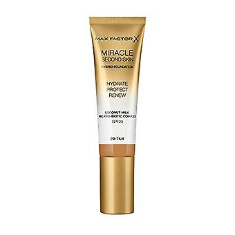 Max Factor Miracle Touch Second Skin Foundation SPF20 30ml - 9 Tan