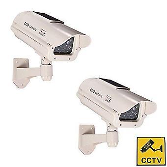 Bw vysoce kvalitní venkovní figurína kamera, nové bydlení figuríny bezpečnostní kamery, balíček propagace 2 ks solární