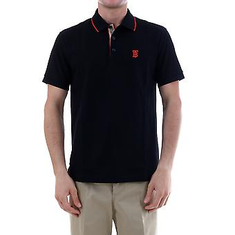 Burberry 8017003a1189 Men's Black Cotton Polo Shirt