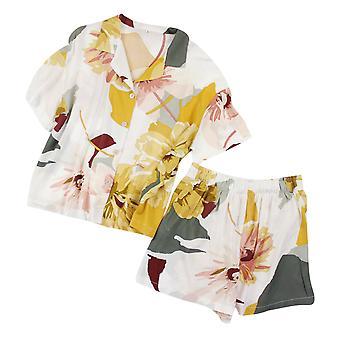 YANGFAN Naiset Painettu LyhytHihainen Pyjama Setti
