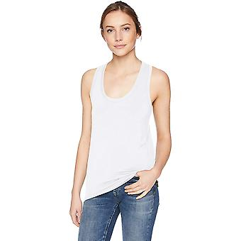 Brand - Daily Ritual Women's Jersey Racerback Tank Top, White, Medium