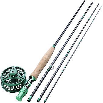 Fly Fishing Rod Combo Carbon Fiber Ultralight Gewicht Vlieg hengel
