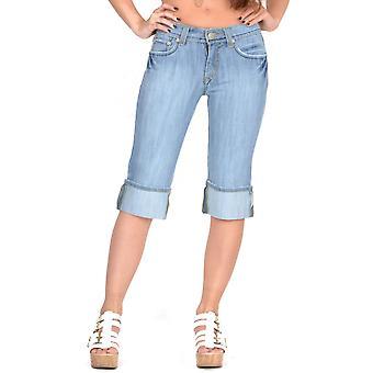 Pantalones cortos de mezclilla largos - azul claro