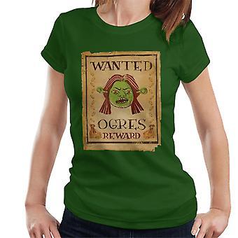 Shrek Princess Fiona Wanted Ogres Belöning Kvinnor' s T-Shirt