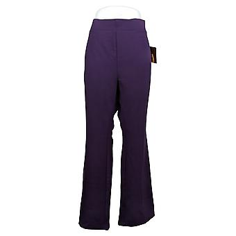 IMAN Women's Pants Plus Pull-On Rayon Purple 722-609