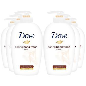6x di 250ml Dove Fine Silk Caring Hand Wash per mani idratate e protette