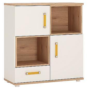 Kiddie 2 Door 1 Drawer Cupboard 2 open shelves