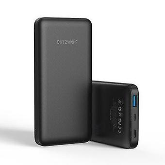 Blitzwolf® bw-p9 10000mah 18w qc3.0 pd3.0 type-c + usb ports power bank with fast charging dual input and output