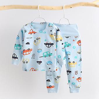 Baby Sleepwear Cartoon Print piżamy do bielizny nocnej
