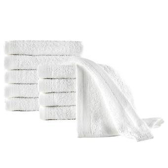 vidaXL Serviettes 10 pcs coton 450 g/m² 30 x 50 cm blanc
