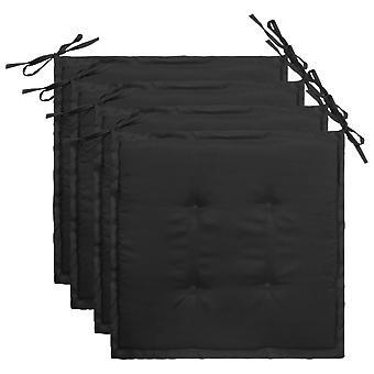 vidaXL Gartenstuhl-Kissen 4 Stk. Schwarz 40×40×3 cm