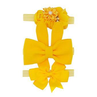 New Kids Baby Floral Headband - Chiffon Ribbon Bowknot