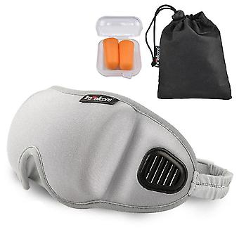 3D natural sleeping eye mask cover eye aid sleep shading eyepacth adjustable length breathable unisex men women blindfold goggle