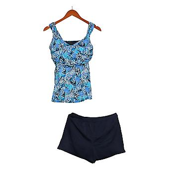 Fit 4 U Swimsuit Sweetheart Tankini with Blue Board Shorts A376257
