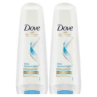 2x 350ml Dove Nutritive Solution Daily Moisture Light Conditioner For Fine Hair