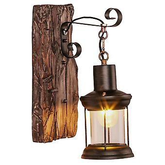 American solid wood decorative wall lamp
