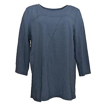 Anybody Women's Cozy Knit Asymmetrical Top Blue A381285