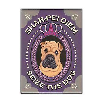 Magnet, Kjøleskap Magnet, Shar-pei Diem, Shar Pei Dog, Vintage