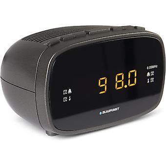 Blaupunkt CLR 80 Radiowecker mit UKW PLL | Uhrenradio mit zwei Weckzeiten | Kleiner Reisewecker |