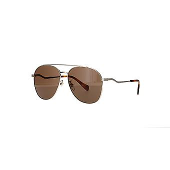 Gucci GG0969S 002 Gold/Brown Sunglasses