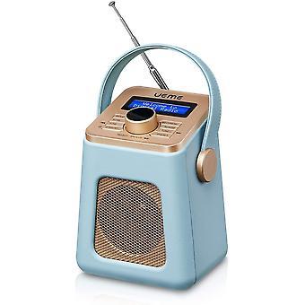 FengChun Mini DAB+ DAB Digitalradio und UKW Radio mit Bluetooth Lautsprecher, Radiowecker und Leder