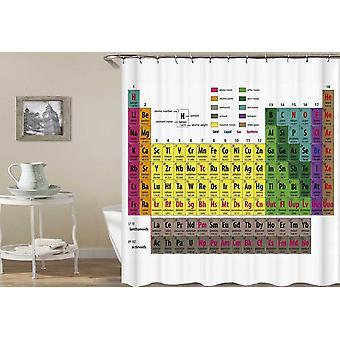 Periodieke tabel van de elementen douche gordijn