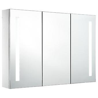 vidaXL LED badkamer spiegelkast 89 x 14 x 62 cm