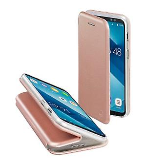 Livret «Bow» de Hama pour Samsung Galaxy A6 (2018), or rose