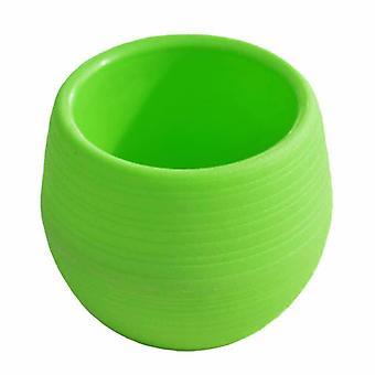 Mała doniczka z tworzywa sztucznego - zielona