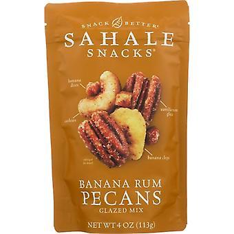Sahale Snacks Mix Pecans Bnana Rum Glz, Case of 6 X 4 Oz