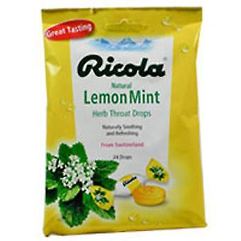 Ricola Ricola Throat Drops Lemon Mint, Lemon-Mint, 24 drops
