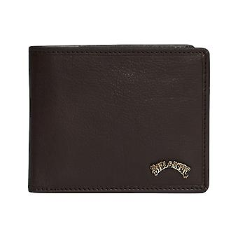 Billabong Arch ID Leather Wallet in Chocolate