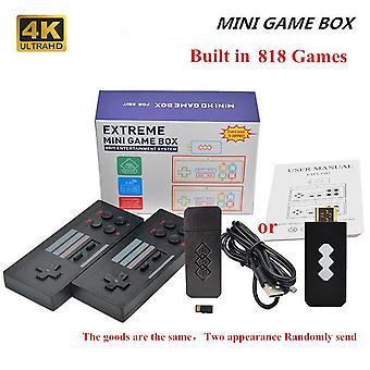 Hd-compatible video game console built in 620/818 classic games retro console wireless controller av/hd output mini game box