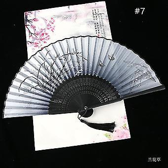 Chinesische Vintage Stil Falten Fan Kunst Handwerk Geschenk Tanz Hand Fan Home Decoration Ornamente(#7)