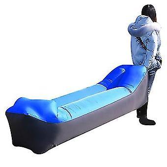 Chaise longue gonflable Canapé Air Hamac Portable Étanche à l'eau Anti Fuite d'air (Bleu)