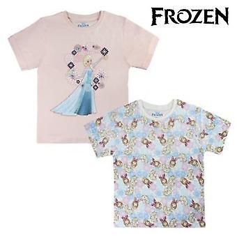 Child's Short Sleeve T-Shirt Frozen 72680 Sky blue