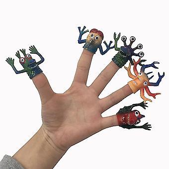 5pcs מצחיק צעצוע פידג'ט Tpr מפלצות אצבע בובה משכך מתח