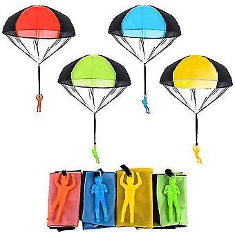 Padák sada toy spleť zadarmo hádzanie toy padák hádzanie parašutu figúrky hádzať darček (modrá)