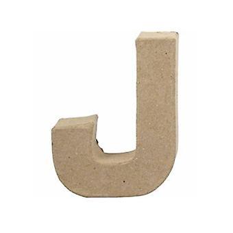 ÚLTIMOS - Pequeno papel de 100mm Mache Carta J | Formas de Papel Mache
