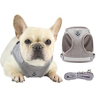 Imbracatura per cani / Imbracatura gatto Grey Size S