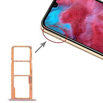 מגש כרטיסי SIM + מגש כרטיס SIM + מגש כרטיס מיקרו SD עבור Huawei כבוד לשחק 3e (זהב)