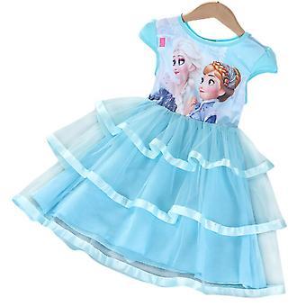 Garota Congelada Anna Elsa Tutu Tulle Vestido Baile Baile Princesa Vestidos Festa