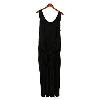 Brittany Humble Women's Jumpsuits Plus Tie-Front Black 754099
