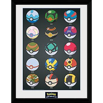 Pokemon Pokeballs Collector Print
