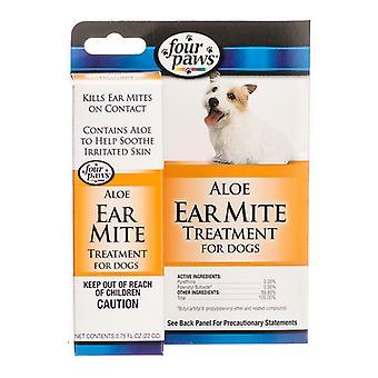 Quatro patas ear mite remédio para cães - .75 oz