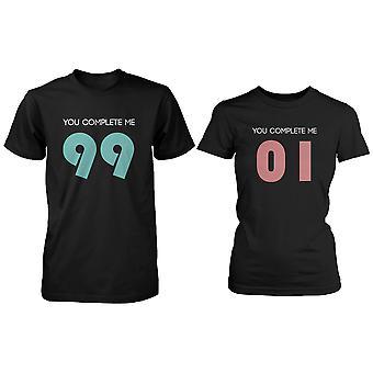 You Complete Me paar T-Shirt (zwei Hemden) passende paar T-Shirts