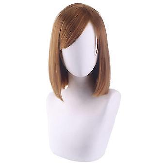 Anime wigs kugisaki nobara short synthetic hair wigs halloween gift