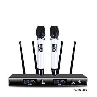Gaw-280 professionelles Zweikanal-UHF-Handmikrofon drahtloses Schwanenhalsmikrofon und